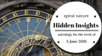 Hidden Insights: Astrology for the week of 3 June 2018