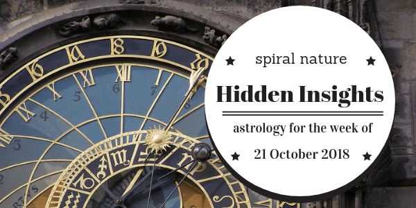 Hidden Insights: Astrology for the week of 21 October 2018