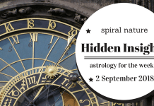 Hidden Insights: Astrology for the week of 2 September 2018
