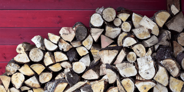 Log pile, photo by Harry McGregor