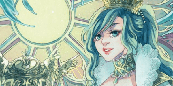 Mystical Manga Tarot, detail of The Queen of Cups