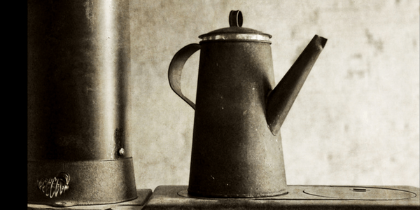 Old stove and coffee pot, photo by john brucato
