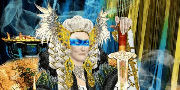 Tarot Apokalypsis, Detail from the Queen of Swords