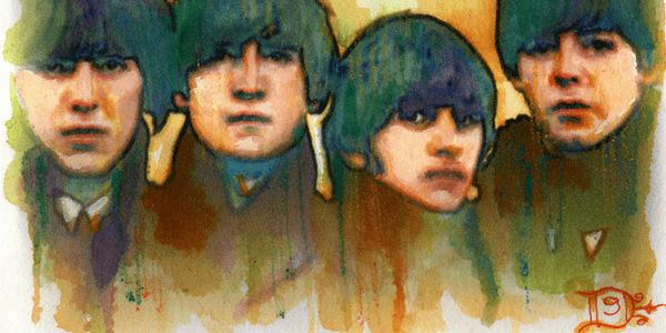 The Beatles by Luis Diaz Art (flickr)