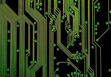 Circuit board, photo by Creativity103