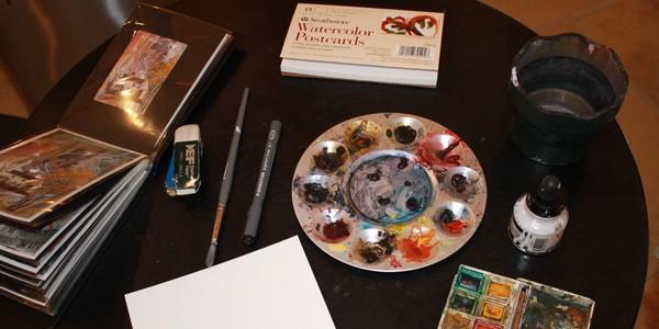 Monica Bodirsky's paints, photo by Jenna Danchuk