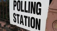 (November) Polling station, photo by Pete