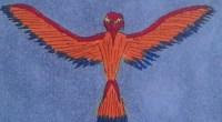Detail from Six of Birds, Shining Tribe Tarot