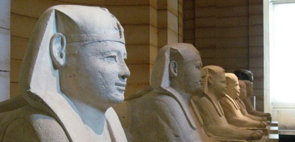 Processional Way of Sphinxes, Musée du Louvre, Paris, photo by Wally Gobetz