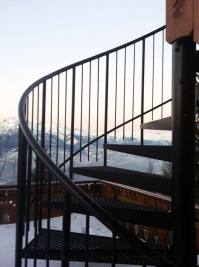 Steel Spiral Staircase Switzerland - Spiral Staircases