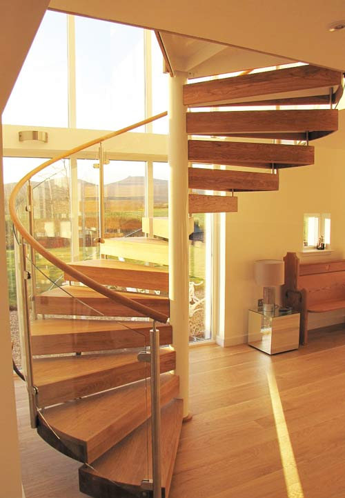 Spiral Stair Banchory was a project with glass panels