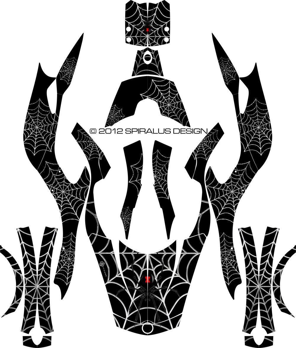 Can Am Spyder Black Widow Graphic kit