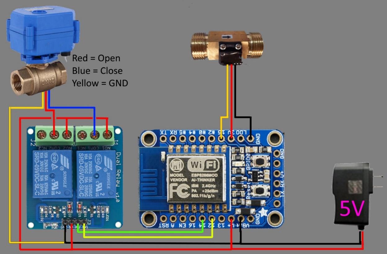 air flow meter wiring diagram trailer 4 wire building a shower timer with an esp8266 | blog spiria