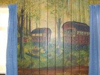 Caravan mural at Ness Battery, Orkney