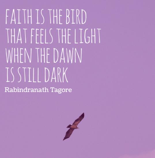 faith is the bird good morning
