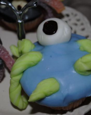 Sinister Sea Monster Halloween Cupcakes