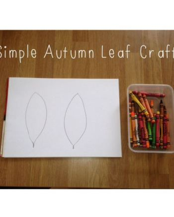 Simple Autumn Leaf Colouring for preschoolers