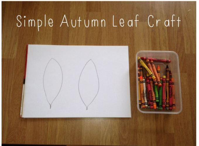 Simple Autumn Leaf Colouring