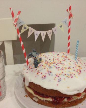 Easy Retro 1st Birthday Cake