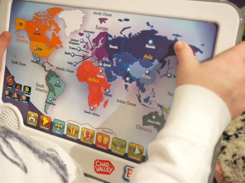 Chad valley playsmart interactive touch pad world map win a 75 what we loved about this is that f and s had to put their problem solving skills to the test and it kept them enthralled over the course of a few evenings gumiabroncs Choice Image