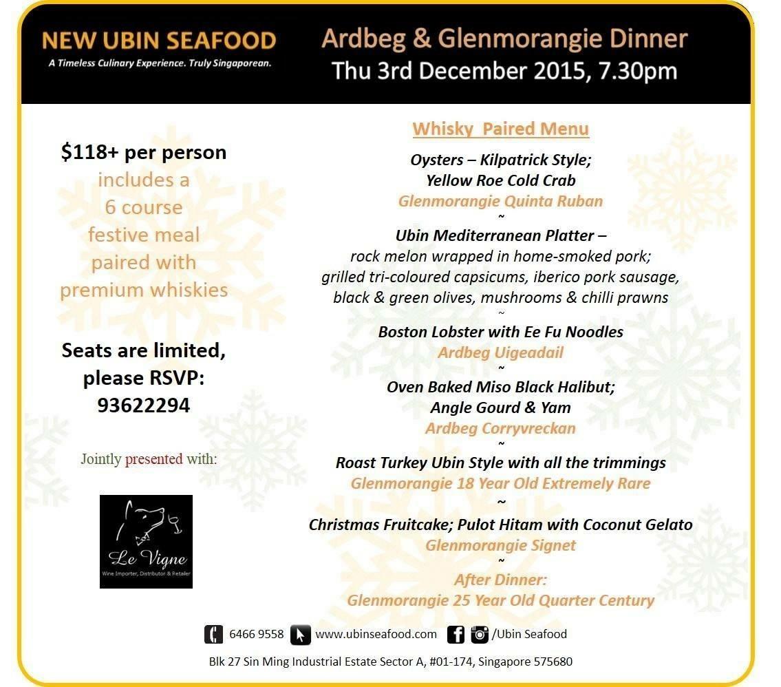 Ardbeg & Glenmorangie Food Pairing - SPIRITED/SG