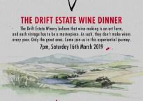 The Drift wine dinner