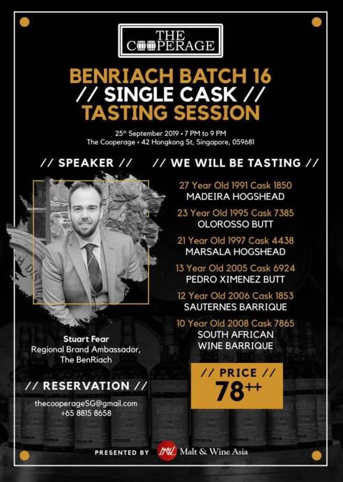 BenRiach Batch 16 whisky tasting