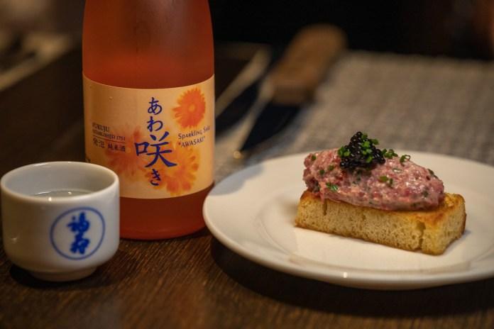 Fukuju Awasaki sparkling sake