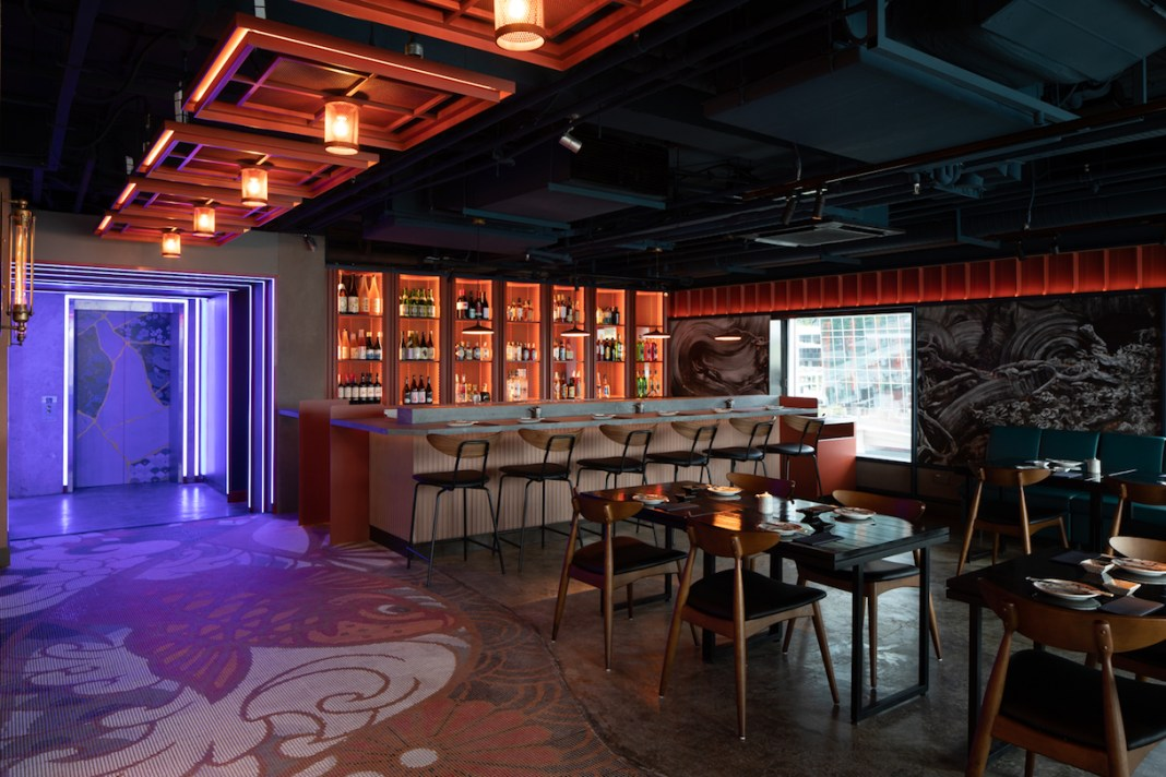 Kinki Restaurant + Bar main dining room