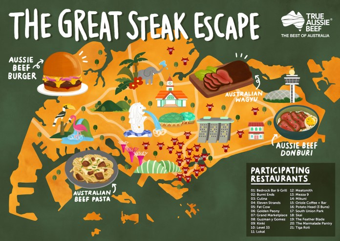 The Great Steak Escape Map