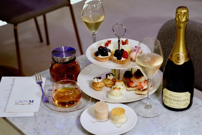 Lady M Afternoon Tea at Lady M Champagne Bar