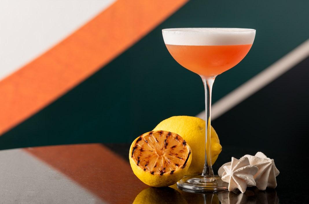 Flow Bar - Burnt Lemon Whiskey Sour