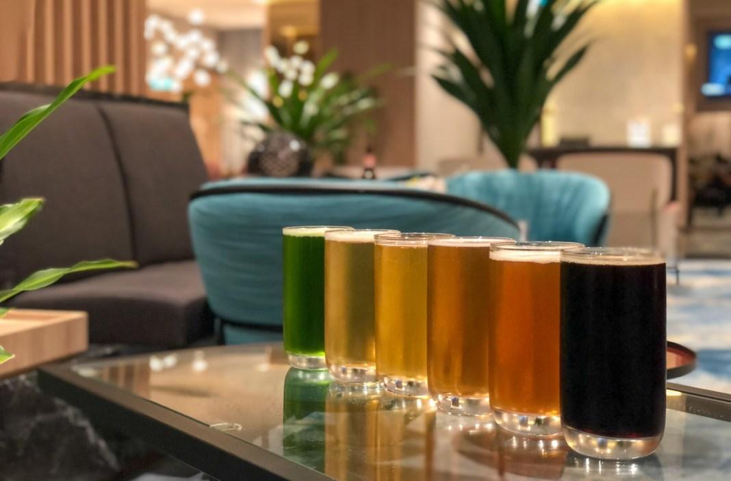 beers at Changi Lounge