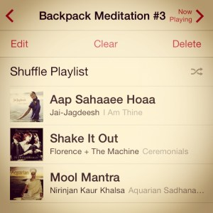 My playlist for this meditation.