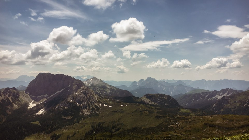 Das wunderschöne Bergpanorama