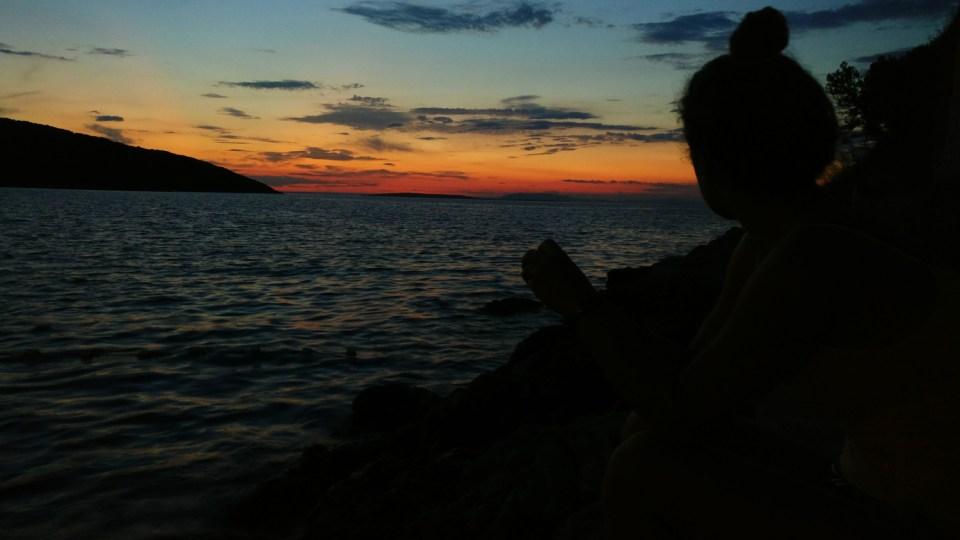 Sonnenuntergang in Osor