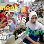 perbedaan konveksi dan garment