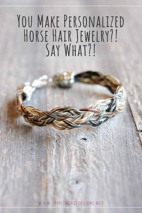 Personalized Horse Hair Bracelet