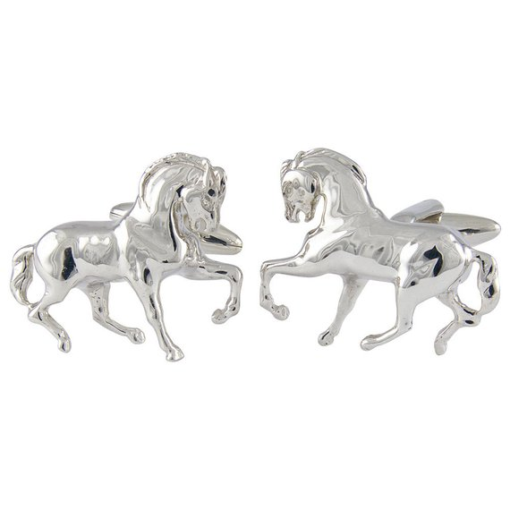 I love these sterling silver stallion cufflinks by Dedaldo on Etsy! Just gorgeous!