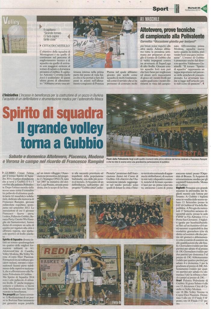 Corriere dell'Umbria - 30.09.14