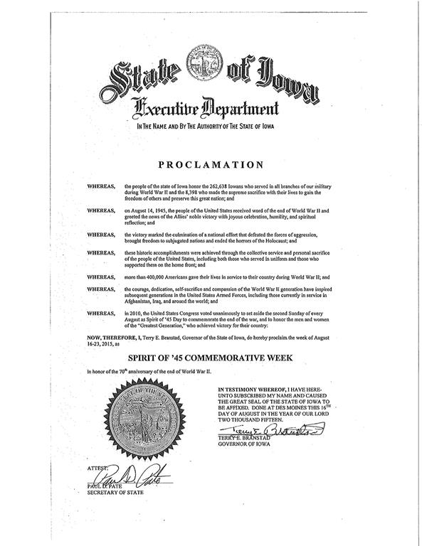 Examples Of State Proclamations