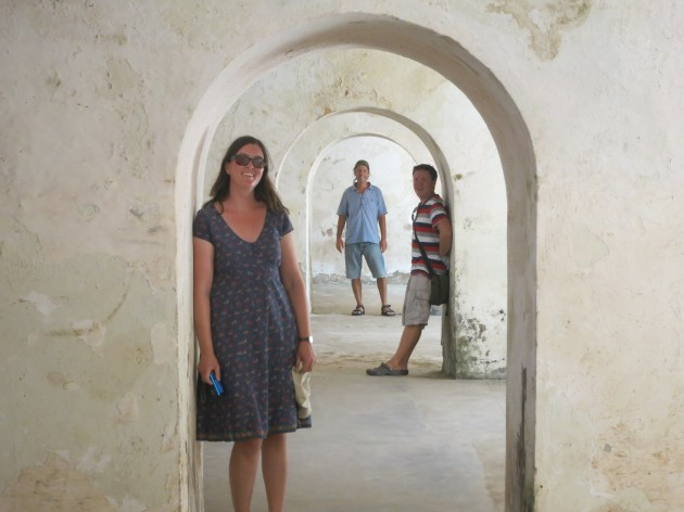 Aoife and Tim from Waimangu in the Harbour fort in Old San Juan, Puerto Rico