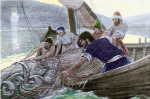 Disciples and Jesus Fishing