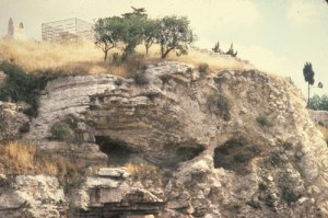 Skull on Mount of Olives