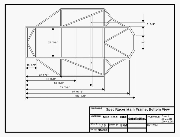 FILTRE  Plan   Frame bottom