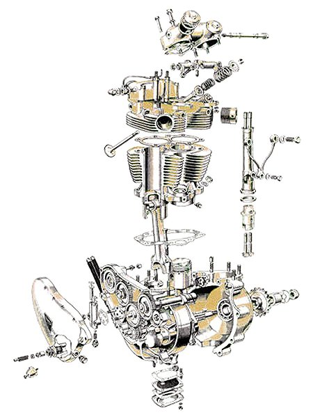 Triumph Tiger 100 cutaway