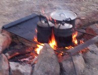 campfire on outback desert tours