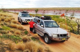 4wd Cars on Channel Corner Country Tours
