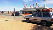 Simpson Desert Tours resting at Birdsville Pub