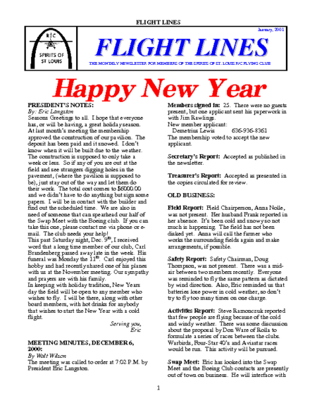 Flight Lines (January-2001)